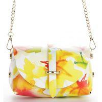 869ae512c2833 Firmowe Torebki Skórzane Elegancka Listonoszka Damska łańcuszku w modne  malowane kwiaty renomowanej firmy Vittoria Gotti Made
