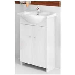 DEFTRANS VENUS Zestaw łazienkowy szafka 2D0S D56 bez cokołu + umywalka, biały 108-D-05603+1403