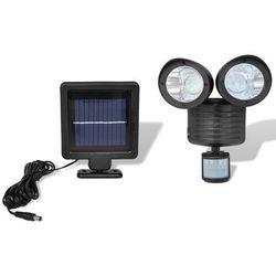 vidaXL Podwójny reflektor solarny LED z czujnikiem ruchu Darmowa wysyłka i zwroty
