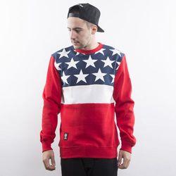 Mass Denim bluza Washington crewneck red - red