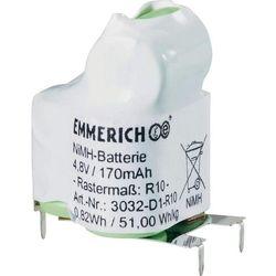 Pakiet akumulatorów NiMH Emmerich 3032-D1-R10, 4,8 V, 170 mAh