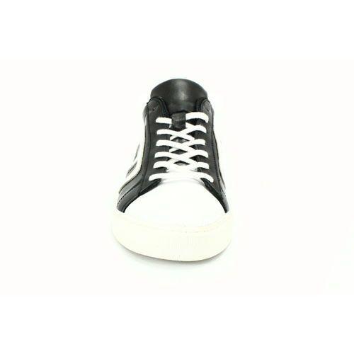 KENT 293M CZARNY BIAŁY Skórzane buty sportowe Biały