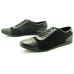 KENT 262 CZARNY - Stylowe buty męskie casual ze skóry