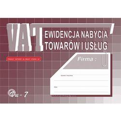 Ewidencja nabycia towarów i usług Michalczyk&Prokop Vu-7 - A4