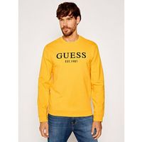 Guess Bluza Bastian M0YQ31 K7ON0 Żółty Slim Fit