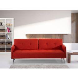 Sofa z funkcją spania marchewkowa - kanapa rozkładana - wersalka - LUCAN