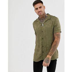 e606b2e46 River Island revere collar shirt with paisley jaquard in dark green - Green