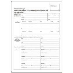 Karta badań do celów epidemiologicznych / A4 kpl-100 szt [Pu/Ksn-6]