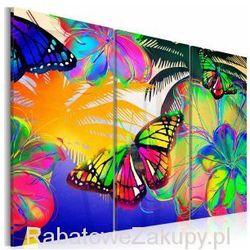 Obraz - Egzotyczne motyle - tryptyk