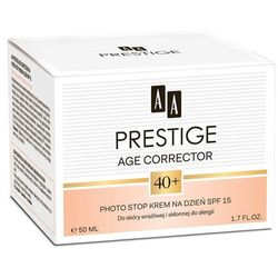 AA Prestige Age Corrector 40+ Krem na dzień SPF15 do skóry wrażliwej i skłonnej do alergii 50 ml