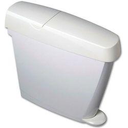 Kosz sanitarny otwierany z przodu BIAŁY Sanibin 20l