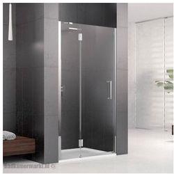 NOVELLINI LOUVRE G Drzwi wnękowe 80 lewe, profile chrom, szkło transparentne LOUVRG80LS-1K