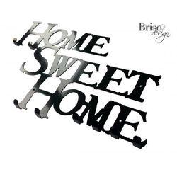 Wieszak na ubrania Home Sweet Home XL, czarny połysk by Briso-desing