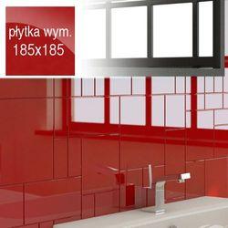 Płytki Czerwone Kafelki COMPONER Mozaika Szklana 185x185mm