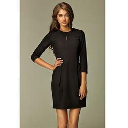 2649ccc444 suknie sukienki sukienka bombka eko skora dzianina avanti czarna ...