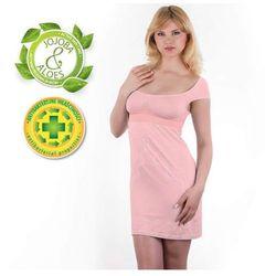 Babyono - Koszulka nocna dla matek karmiących - różowa - XL