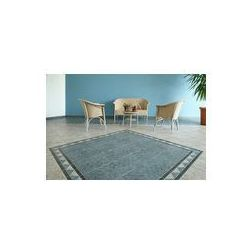 Foto naklejka samoprzylepna 100 x 100 cm - Salon kafelki patio z wikliny
