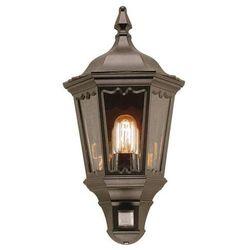 Zewnętrzna LAMPA ścienna MEDSTEAD MD7 PIR Elstead KINKIET metalowy OPRAWA elewacyjna IP43 z czujnikiem ruchu outdoor czarny