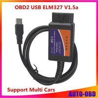 New ELM327 USB ELM 327 OBD2 OBDII V1.5a Auto Diagnostic Interface Scanner Code Reader Fress shipping