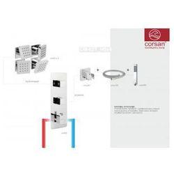 CORSAN Zestaw podtynkowy z termostatem, chrom CM-02T_2H5x4