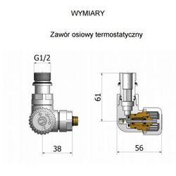 Zestaw zaworów grzejnikowych termostatycznych VISION prawy STAL NIERDZEWNA