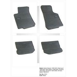 Dywaniki gumowe czarne z kompletem stoperów - Seat Toledo (II) 1999-2005