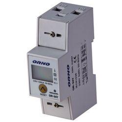 Orno Licznik zużycia energii elektrycznej z podlicznikiem 1F 5(80)A OR-WE-503