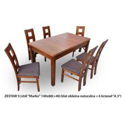 Zestaw Ares 5 Stół 80x140(+40) 6 krzeseł A3