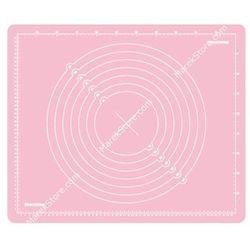 Stolnica silikonowa z podziałką - 55x45 cm - odcienie różu