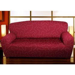 Forbyt Multielastyczny pokrowiec Lazos na kanapę bordo, 120 - 160 cm, 120 - 160 cm
