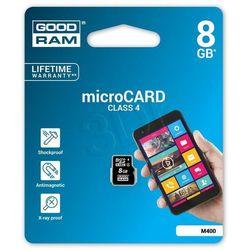 GOODRAM microSD 8GB CL4 DARMOWA DOSTAWA DO 400 SALONÓW !!