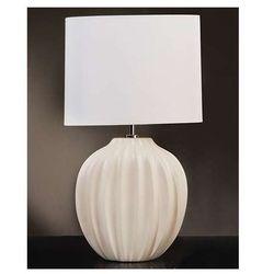Stojąca LAMPA stołowa LUI/VERONICA SM Elstead ceramiczna LAMPKA abażurowa biały kremowy