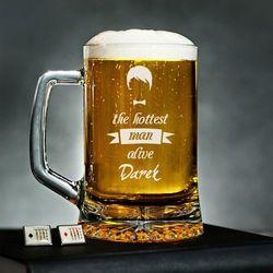 Hottest Man - Personalizowany Kufel - Kufel do piwa