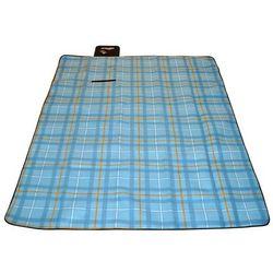 Koc piknikowy 210x180 cm - Niebieski