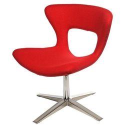 Nowoczesne krzesło Soft - czerwone