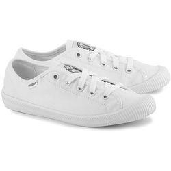 PALLADIUM Flex Lace - Białe Canvasowe Trampki Damskie - 93155-170-M