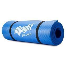 Mata fitness NBR 1,5 cm grubości, 180 cm długości (niebieska) Allright