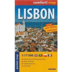 Lisbon Laminowany Plan Miasta 1:17 500 - Mapa Kieszonkowa (opr. miękka)