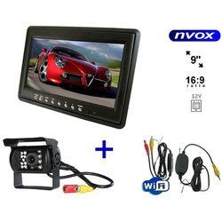 Zestaw monitor samochodowy zagłówkowy lub wolnostojący LCD 9