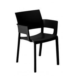 Krzesło ogrodowe z podłokietnikami do restauracji Fiona Resol czarne