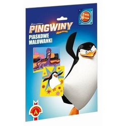Piaskowe Malowanki Pingwiny z Madagaskaru