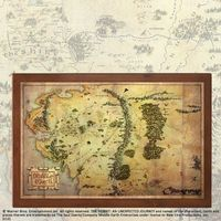 Mapa Śródziemia z filmu Hobbit Noble Collection (NN1312)