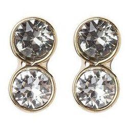 Karen Millen Kolczyki light goldcoloured/crystal/black diamond