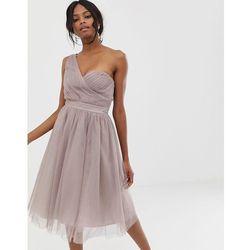 3f45464dc4 Little Mistress one shoulder tulle skater dress - Grey. ASOS. Asortyment  suknia