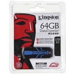 Pendrive Kingston DataTraveler R3.0 G2 USB 3.0 Czarno-niebieski 64GB - DTR30G2/64GB