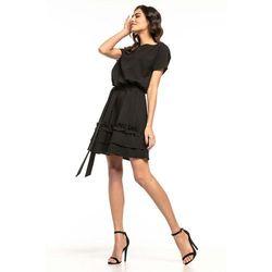 0d4fdc8bae2 suknie sukienki sukienka rozkloszowana z koronka sisi (od Czarna ...