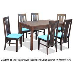 Zestaw Ares 36 Stół 80x150(+40) 6 krzeseł A4