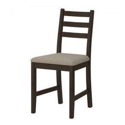 LERHAMN Krzesło, czarnobrąz, Vittaryd beżowy