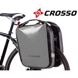 CO1009.60.06 Sakwy rowerowe Crosso DRY BIG 60l Srebrne zestaw na tył
