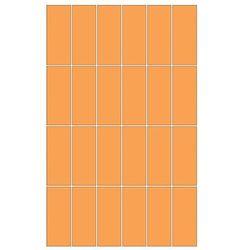 mozaika Aroma prostokąty orange 25 x 40 WD208-014